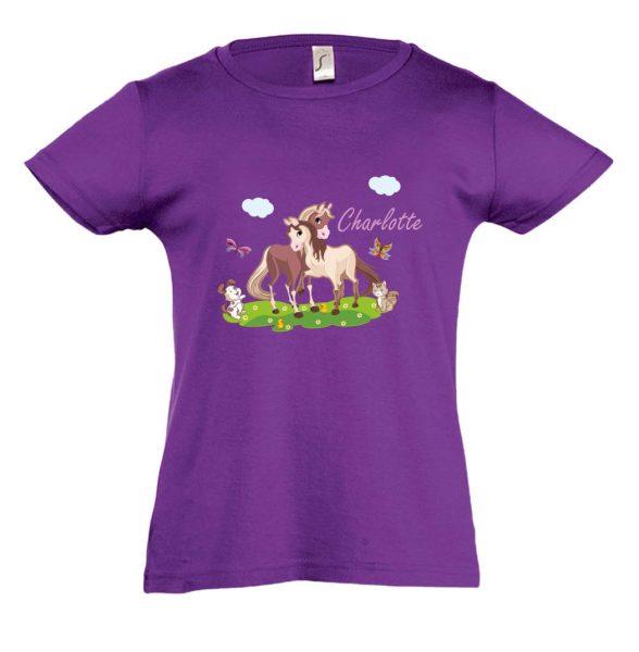 Pferde T-Shirt für Mädchen