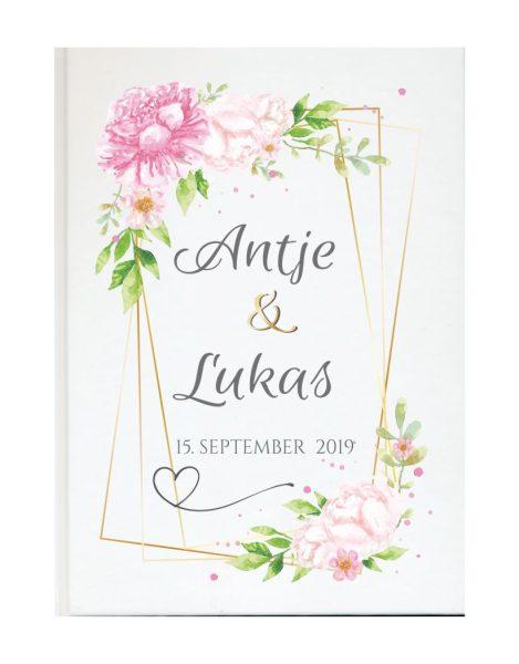 Personalisiertes Gästebuch für Ihre Hochzeit (Motiv 19)
