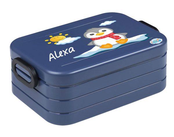 Brotdose Lunchbox Maxi Take A Break midi BENTO Box mit Gabel Pinguin mit Sonne
