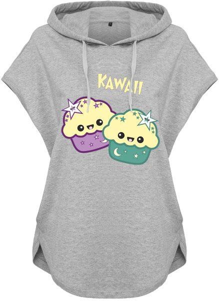 Kawaii Hoodie Kapuzenhoodie für Damen Cupcake Muffins