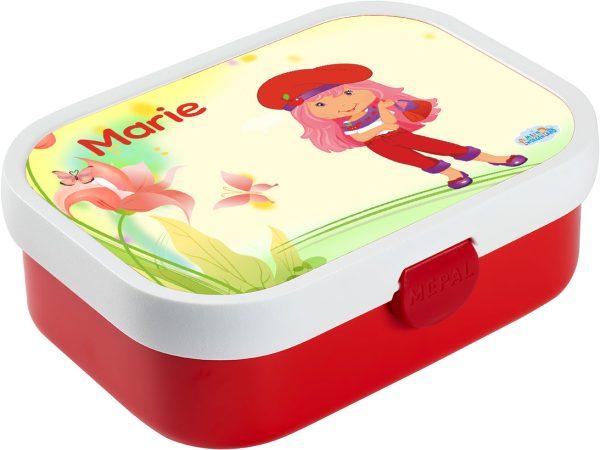 Brotdose Mepal Campus mit Bento Box und Gabel Rot, versch. Motive