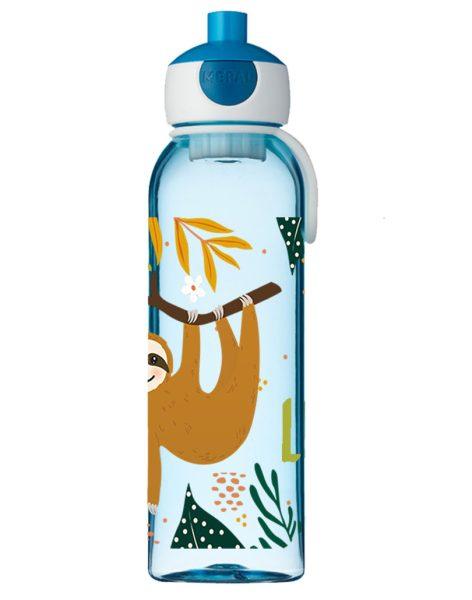 Wasserflasche Mepal Campus mit Name in blau und Faultier Junge