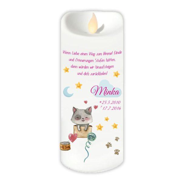 LED Kerze Twinkle für Tiere Katze mit Wolke