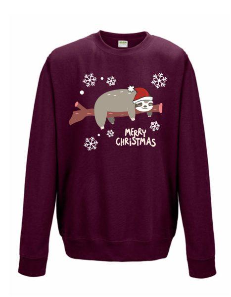 Sweatshirt Shirt Pullover Pulli Unisex Weihnachten Winter Faultier