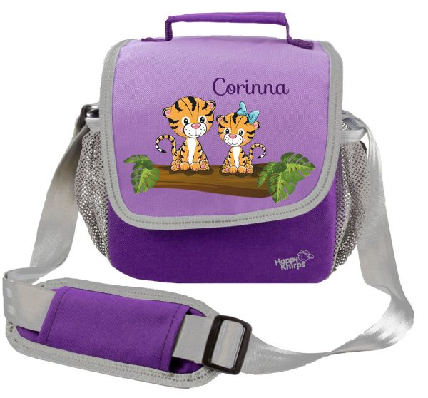 Kindergartentasche Happy Knirps lila Tiger
