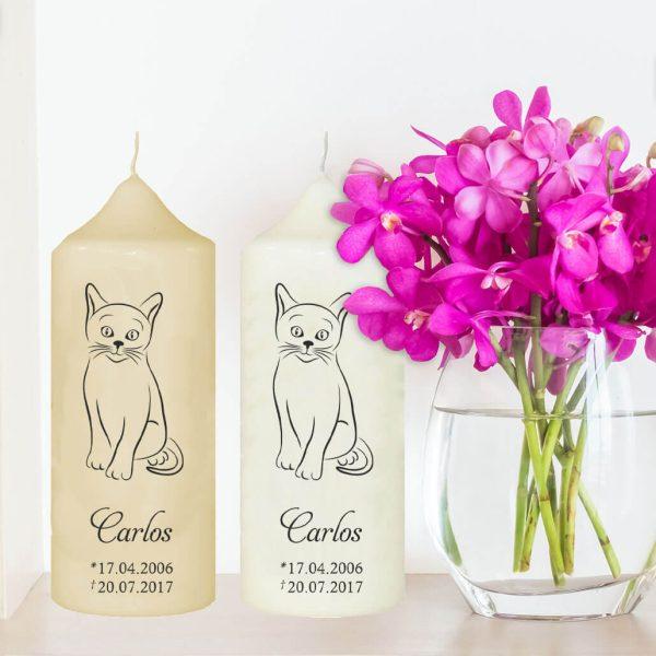 Wachskerze für Tiere Katze Silhouette