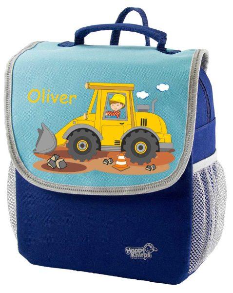 Kindergartenrucksack Happy Knirps NEXT Mit Name, Blau, verschiedene Motive