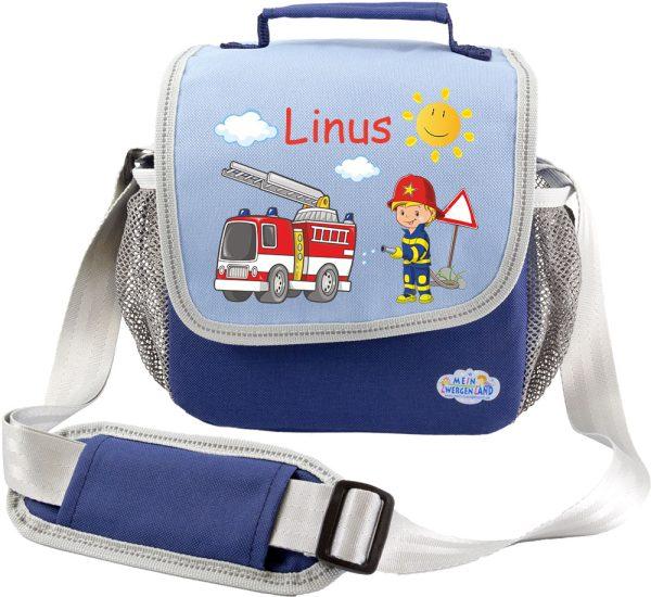 Kindergartentasche Happy Knirps blau Feuerwehr