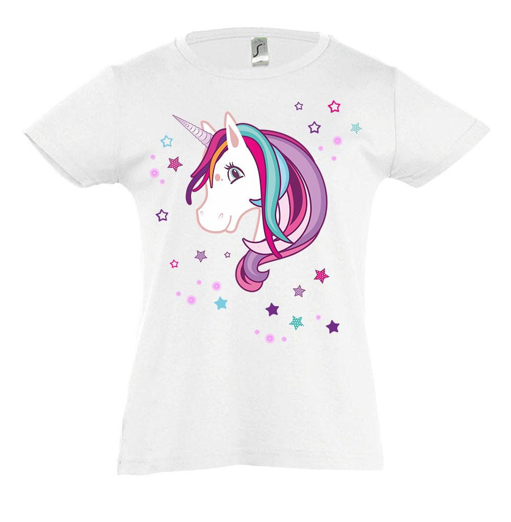 kinder tshirt tailliert für mädchen unicorn einhorn
