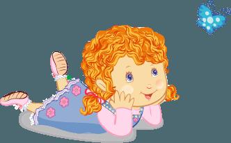Mädchen beobachtet Schmetterling