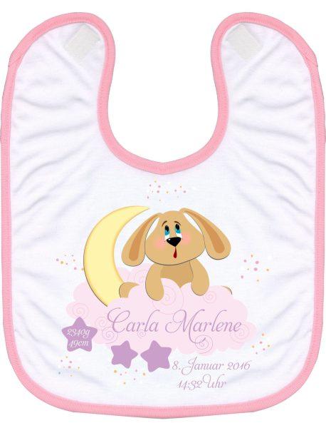 Babylatz rosa Hund