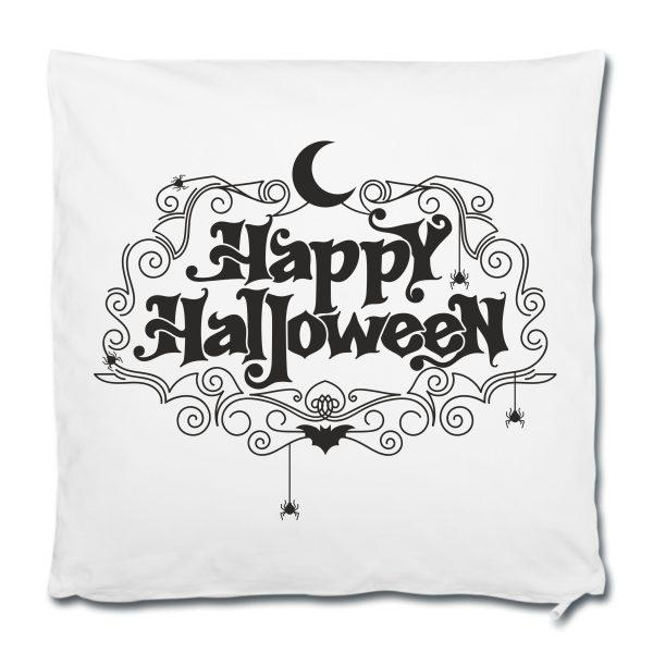 Dekokissen Kuschelkissen Happy Halloween schwarz