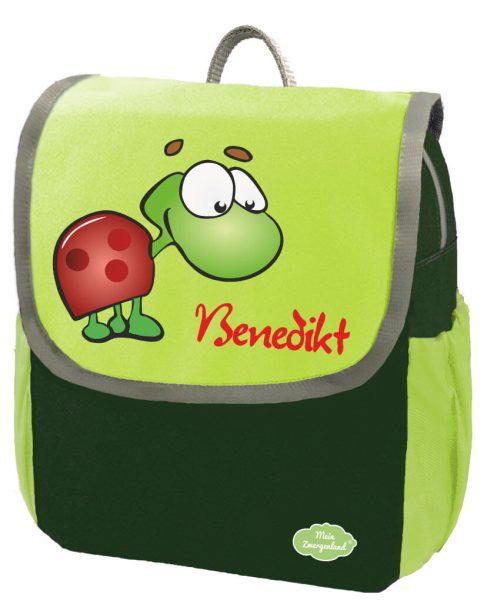 Kindergartenrucksack Happy Knirps NEXT mit Name Grün Schildkröte