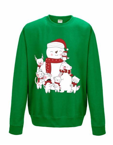 Sweatshirt Shirt Pullover Pulli Unisex Weihnachten Winter Familie
